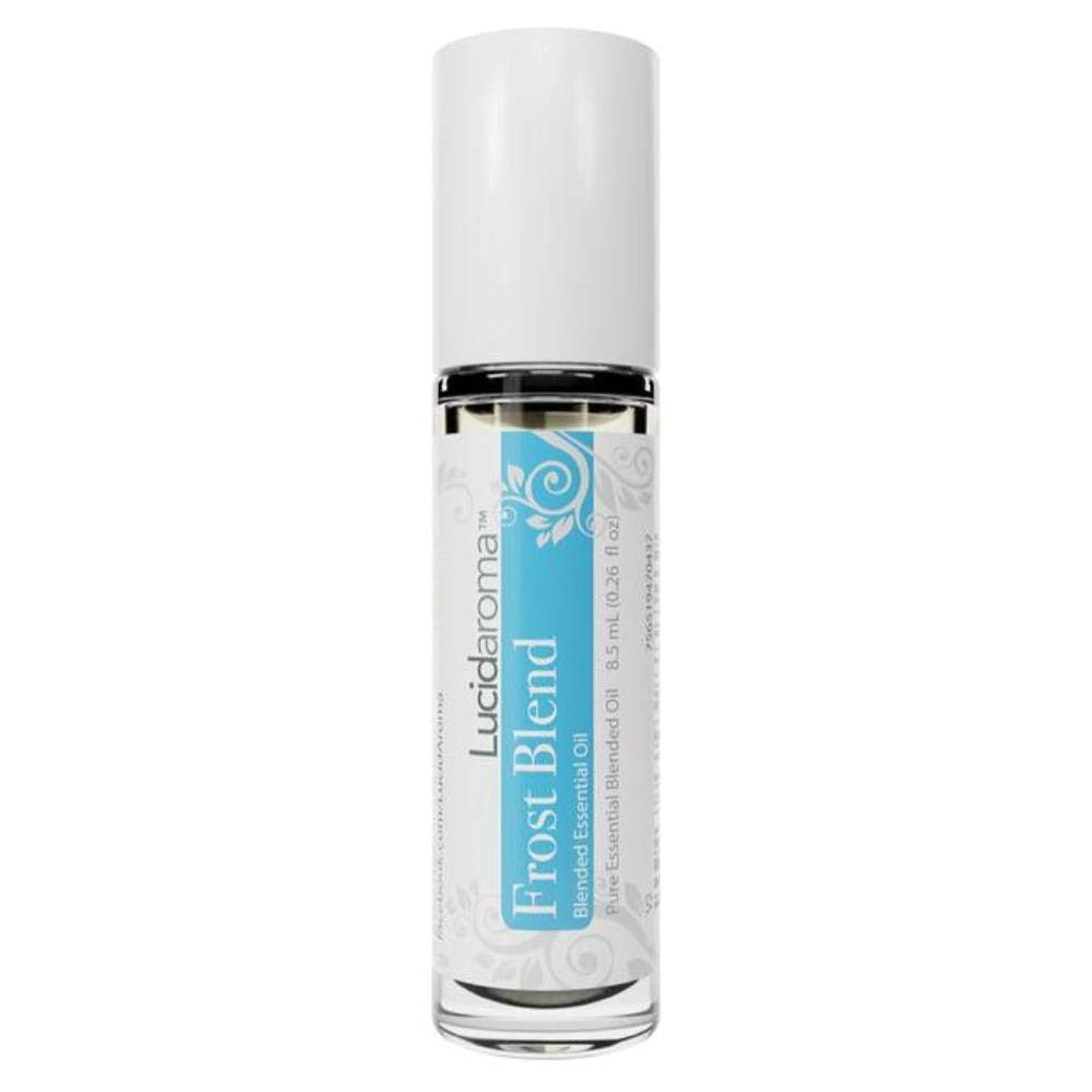 車コンデンサー連想Lucid Aroma Frost Blend フロスト ブレンド ロールオン アロマオイル 8.5mL (塗るアロマ) 100%天然 携帯便利 ピュア エッセンシャル アメリカ製