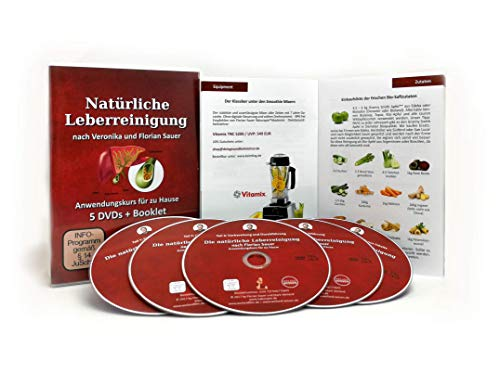 Natürliche Leberreinigung I Florian Sauer I Entgiftungskur I Intensivkurs 5er DVD Set I Anleitung inkl. 56 S. Booklet