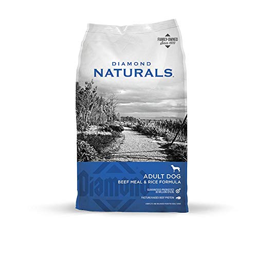 Diamond Naturals Dry Food for Adult Dog, Beef and Rice Formula, 40 Pound Bag...