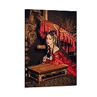 中国古代の美の寝室装飾ポスター キャンバスポスター寝室の装飾スポーツ風景オフィスルームの装飾ギフト,キャンバスポスター壁アートの装飾リビングルームの寝室の装飾のための絵画の印刷 24x36inch(60x90cm)