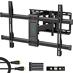 """✅ Ultra strong dual arms hold up to 132lbs - double arm design is adopted to improve stability and reliability. Our TV wall mount easily holds 37-70"""" Tvs weighing up to 132 pounds/60kg so you know your television is safe and secure. It's made from hi..."""