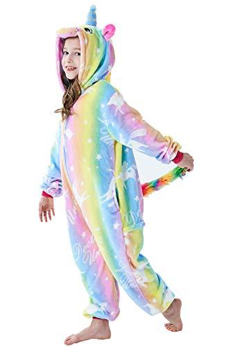 Adulto e Bambino Unisex Unicorno Tigre Leone Volpe Tutina Animale Cosplay Pigiama Costume di Carnevale di Halloween Fancy Dress Loungewear (Unicorn Doctor, XL Altezza di 174-183 cm)
