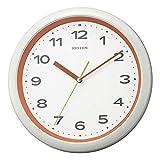 リズム(RHYTHM) 電波時計 掛け時計 ポップカラー 連続秒針 小ぶり 8MY562SR14 φ28x4.6cm オレンジ