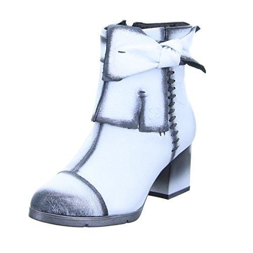 Maciejka Damen Stiefelette 03089-11 Leder Schwarz Weiß Größe 37 EU