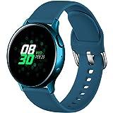 Dirrelo Sportivo Cinturino Compatibile con Samsung Galaxy Watch Active/Active 2 40mm/44mm, Galaxy Watch 3 41mm, Ricambio in Silicone Impermeabile per Galaxy Watch 42mm Classic da Donna Uomo, Ardesia S