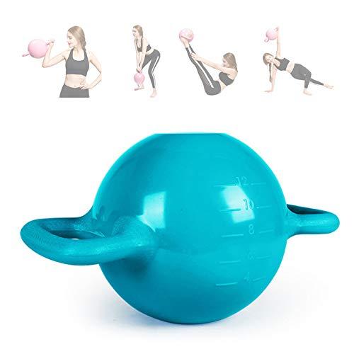 EEUK Kettlebell Portatile per Esercizio Regolabile 1-5KG Kettlebell Riempiti d'Acqua Manubri da Massaggio per Donna Yoga Pilates Sollevamento Allenamento della Forza BodybuildingBlue