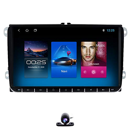 Android 10 Car Radio + Canbus Special para Volkswagen Pantalla multitáctil de 9 Pulgadas Double DIN Music/FM/ 1080P Video Stereo Player con Bluetooth Mirror Link WiFi 4G SWC DVR