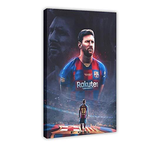 FC Barcelona Soccer Club Lionel Messi 23 Leinwand-Poster, Wandkunst, Dekor, Bild, Gemälde für Wohnzimmer, Schlafzimmer, Dekoration, Rahmen, 60 x 90 cm