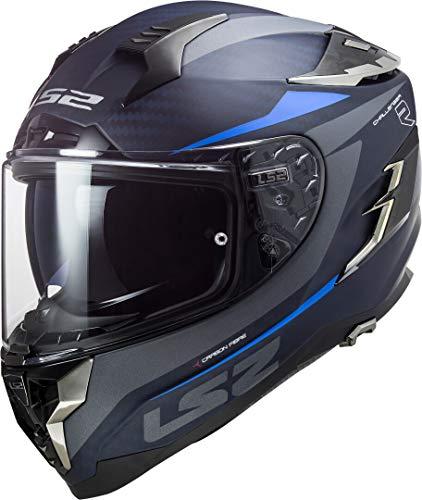 Casco moto LS2 FF327 CHALLENGER CT2 DRONE MATT BLUE, Nero/Blu, L