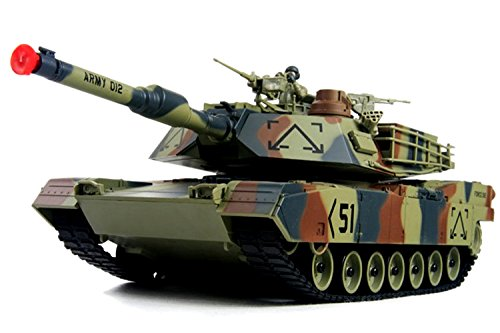 Amazing Tech Depot M1A2 Abrams USA Battle Tank RC 16' Airsoft Military Vechile with Sound (Color May Vary)