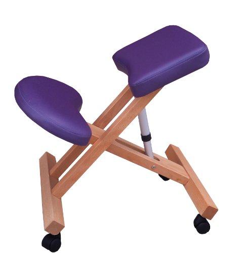 Sedia ergonomica G3P viola sgabello con ruote per casa o ufficio
