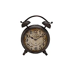 Deco 79 Metal Table Clock H, W-52510, 13 by 10