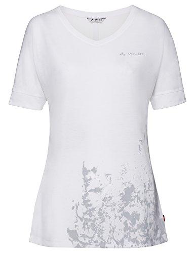 VAUDE Skomer V-Neck T-Shirt Femme Blanc FR : S (Taille Fabricant : 38)