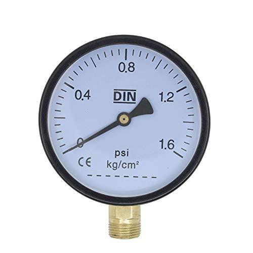 Manometer 1/2 3/8 voor waterleiding lamp steampunk lampen pijp tafellamp touwlamp wandlamp kraan hanglamp industrieel (3/8 inch)