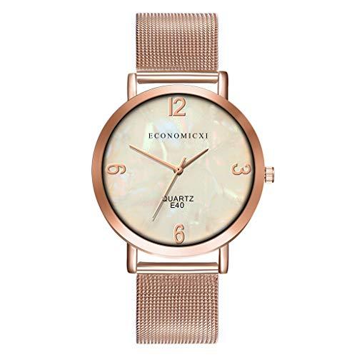 Hzing Casual Damen Armbanduhr, Fashion Ultradünne Uhren Analog Quarz mit Mesh Edelstahl Frauen Elegant Beiläufig Kleid Uhr Watch Damenuhr
