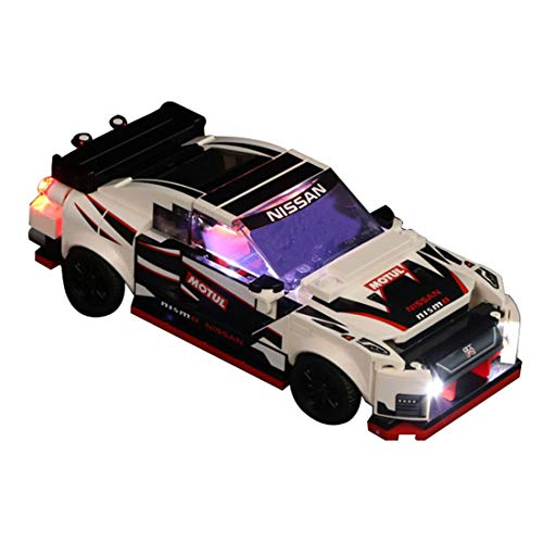 RAVPump Light Set for Speed Champions Nissan GT-R NISMO - LED Lights Kit Lighting Kit Compatible with Lego 76896( Lego Set not Included )