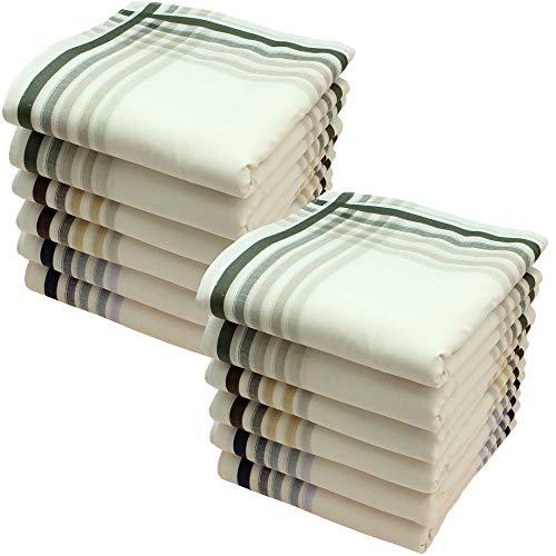 Ohne Marke Stofftaschentücher 12 Stück ca.40x40cm reine Baumwolle Herrentaschentücher (Harry)