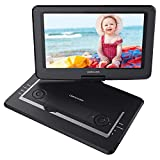 DBPOWER 17.9' Portable DVD Player with 15.6' Large Swivel Screen, Rechargeable Battery, Supports SD Card and USB, with 1.8M Car Charger and 1.8M Power Adaptor (Black)