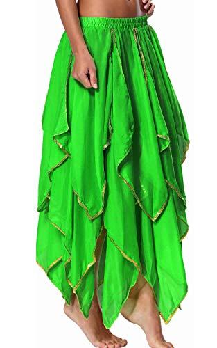 Fairy Skirt Green Tinkerbell Costume for Women Mother Nature Clothing Belly Dance Skirt