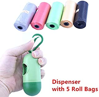 75 Disposable Diaper Refill Bags with Free Capsules Diaper Bag Dispenser,Unscented,Color May Vary