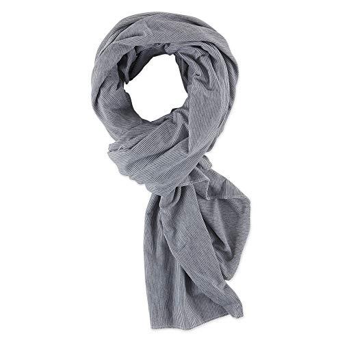 Bucky Blanket Scarf, Gray Stripe, Blanket Scarf