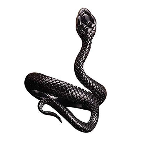 MSYOU Anello Vintage Creativo a Forma di Serpente per Uomo e Donna in Lega Colore Nero