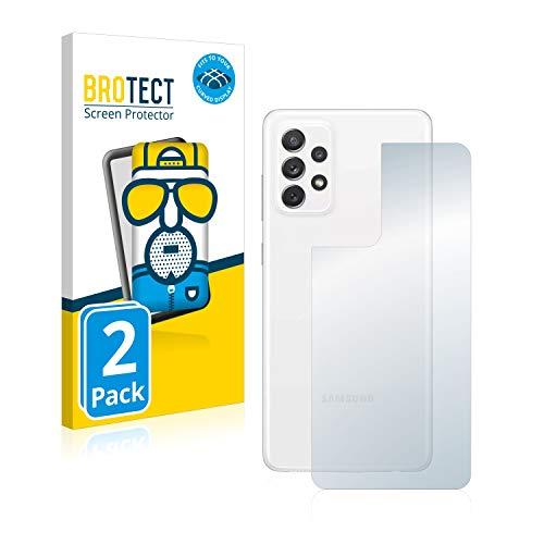 BROTECT Full-Cover Schutzfolie Matt kompatibel mit Samsung Galaxy A72 (Rückseite) (2 Stück) - Full-Screen Displayschutz-Folie, Curved, Anti-Reflex