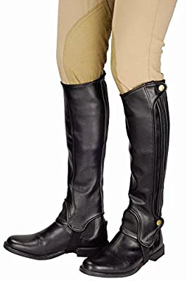 TuffRider Grippy Grain Half Chaps Medium Black by JPC Equestrian Inc