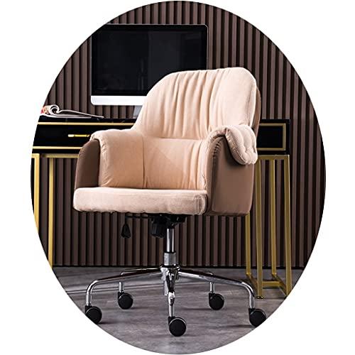 Sillas de Oficina de Estudio para el hogar computadora cómoda y sedentaria Oficina de Ascensor de Ocio de Estudio Escritorio Maquillaje giratoria