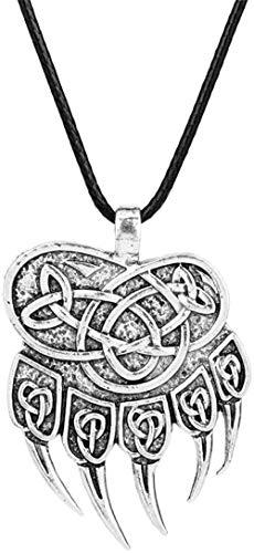 Jewelry Wolf Paw Trail Pagan Amulet Norse Jewelry Viking Pendant Pagan Style Necklace