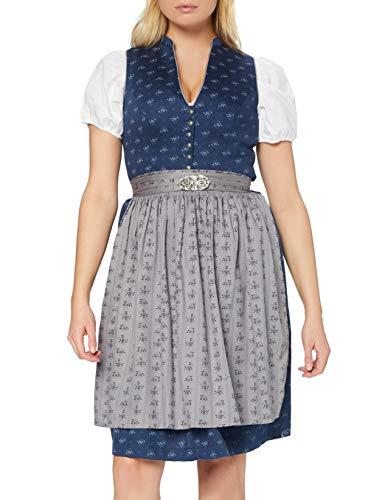 Stockerpoint Damen Dirndl Amalie2 Kleid für besondere Anlässe, dunkelblau-grau, 46