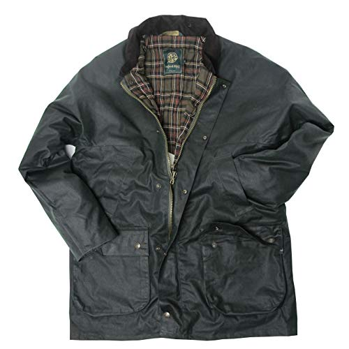 McLaughlin's Irish Shop Original Countryman Waxjacke mit Steppfutter. Dunkelgrün. (M)