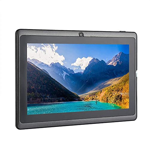 Tableta de tamaño portátil Tableta de 7 Pulgadas para Allwinner A33 Tablet PC 512MB + 4GB Negro EU
