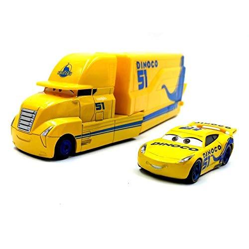 WXX Disney Pixar Cars 3 Miss Fritter Cal Jackson Storm Dinoco Cruz Ramirez 1:55 Diecast Metal Toys Model Car Birthday Gift for Kids (Color : 06)