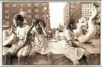 ポスター ジョン バション Hot Summer in the City 1940 額装品 アルミ製ベーシックフレーム(ライトブロンズ)