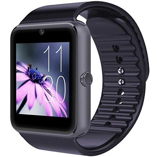 HYLK CNPGD Smart Watch para teléfonos Android Samsung iPhone Compatible Quad Band Reloj Desbloqueado Teléfono Celular para Hombres y Mujeres Pantalla táctil Rastreador de Ejercicios Podómetro Mon