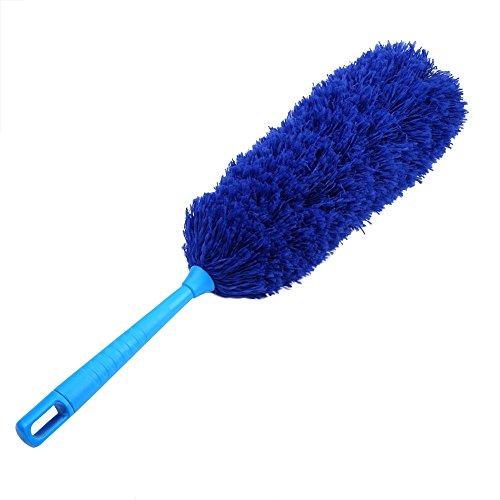 1 stuk plumeau reinigen, wasbaar, antistatische zachte microvezel, schone stofverzamelaar, woonmeubelen, auto-reinigingsgereedschap (hemelsblauw)
