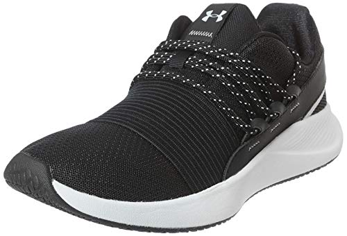 Under Armour womens Charged Breathe Lace Sneaker, Black/Black, 8.5 US