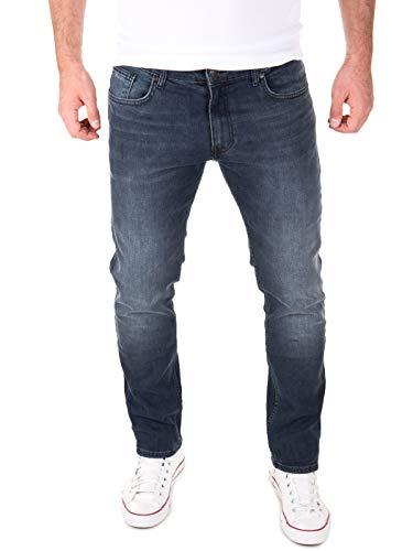 Yazubi Jeans Herren Akon Slim - Jeans Hosen für Männer - dunkelblau Denim Stretch Hose Jeanshose Regular, Blau (Outer Space 194009), W36/L30