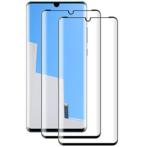 NASFUEY Cristal Templado para Huawei P30 Pro Protector de Pantalla, [2 Piezas] [Dureza 9H] [Anti Huellas ] [Cobertura Completa] Protector Cristal Templado para Huawei P30 Pro