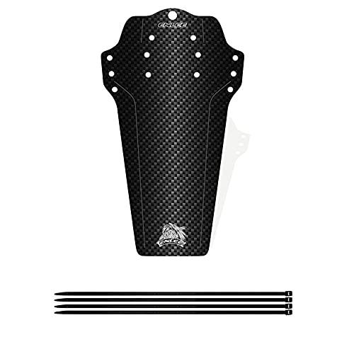 JJvKa spiegelt Mudguard Vorne und Hinten, 38g MTB Schutzblech Spritzschutz Bike Fahrrad MTB mit 6X Kabelbinder für 16-29\'\', Kohlefaser