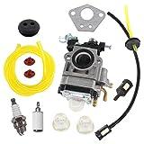 AISEN Carburateur Kit pour Moteur de Débroussailleuse 52cc 49cc 43cc Bougie d'allumage Filtre à Essence