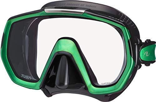 TUSA Freedom Elite M-1003 - Máscara de buceo, color verde y negro