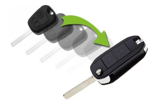 Klappschlüssel Umbauset für Citroen C1, C2, C3