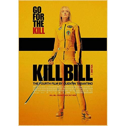 CWJCZY Klassische Nostalgie Movie Posterpulp Fiction/Shining/Kill Bill/Godfather Poster und Drucke Retro Wandaufkleber