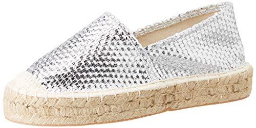 FOR TIME Z603, Zapatillas para Mujer, Plata, 39 EU