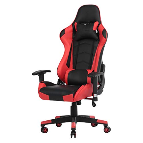 Gaming Chair Racing Office Computer Ergonomic Video Game Chair Backrest and Seat Height Adjustable Swivel Recliner with Headrest