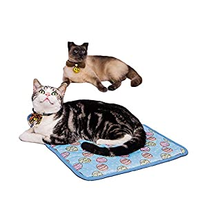Cuteboom Pet Cooling Mat Cat Dog Cushion Pad Summer Cool Down Comfortable Soft for Pets and Adults