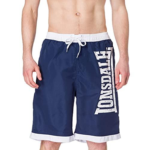Lonsdale CLENNELL Pantalones Cortos, Blanco, XXXXL para Hombre