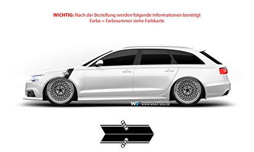 WRAP SKIN Kotflügeldekor Set passend für Audi Seitendekore Seitendekor Aufkleber WS-06-02-10001-P